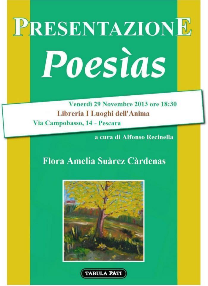 POESIAS incontro con  Flora Amelia Suarez Cardenas